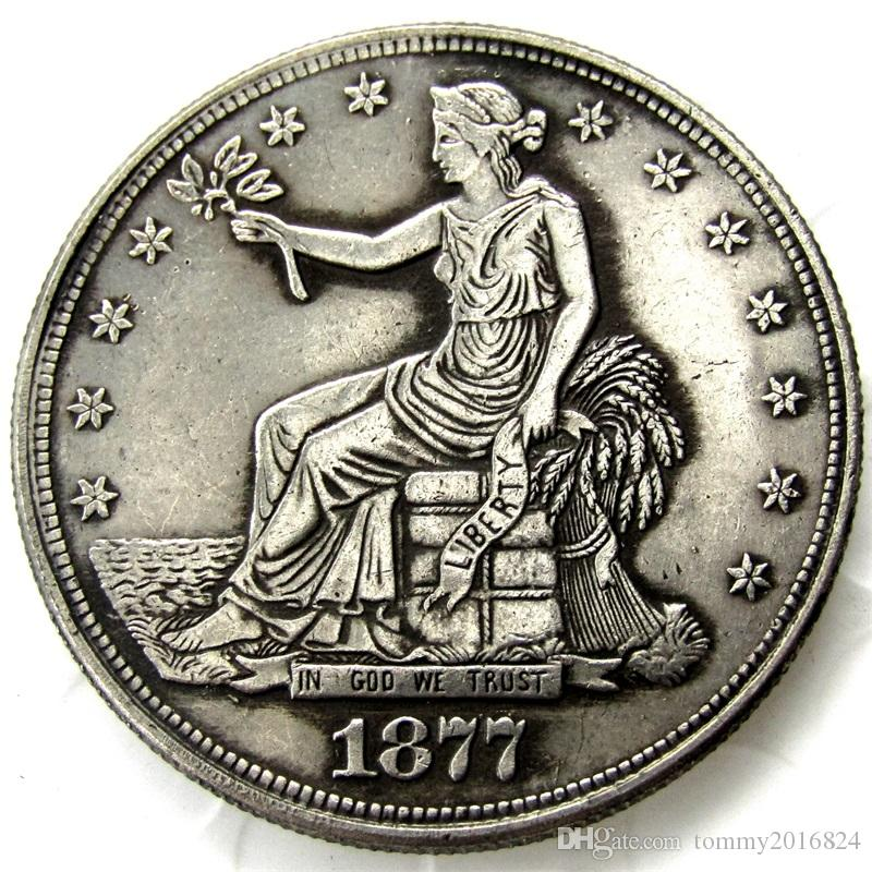 US Coins 1877cc Trade Dollar Copy Coins replica coins home decoration  accessories