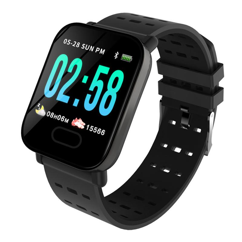 cf5b98b78a6c Reloj Inteligente Precios A6 Bluetooth Smart Watch Fitness Tracker Monitor  De Presión Arterial Deporte Reloj Inteligente Pulsera Inteligente Para  Android ...