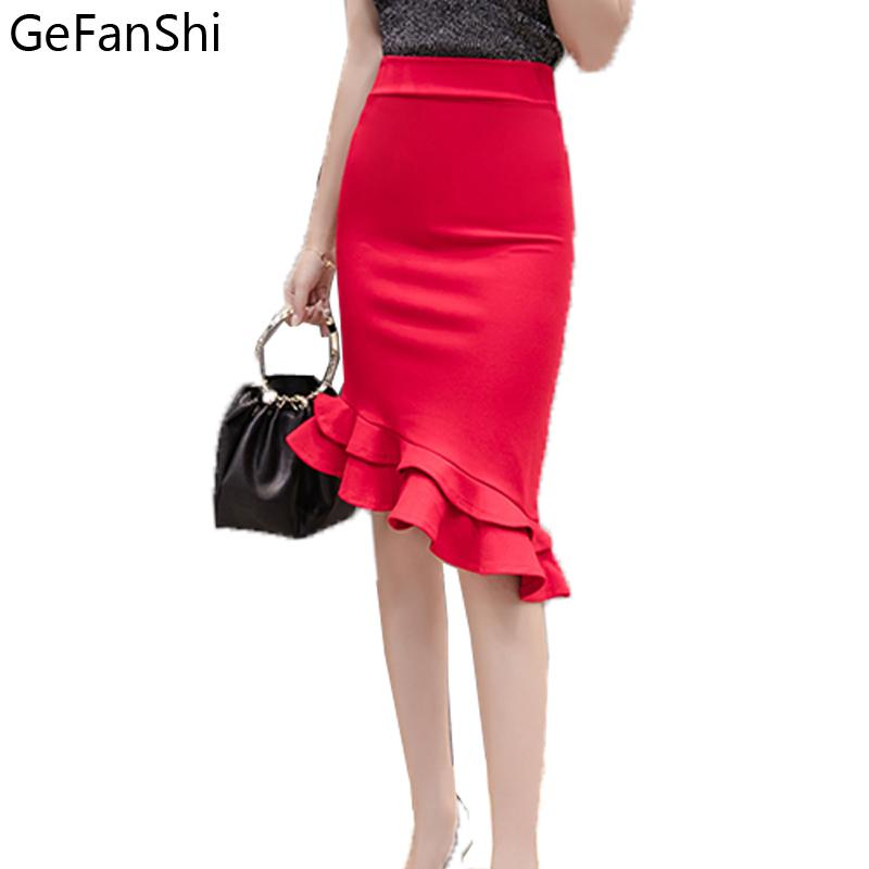 040c0377c3 2019 Fashion 2018 New Women Skirt Slim Sexy Midi Skirt Trumpet ...