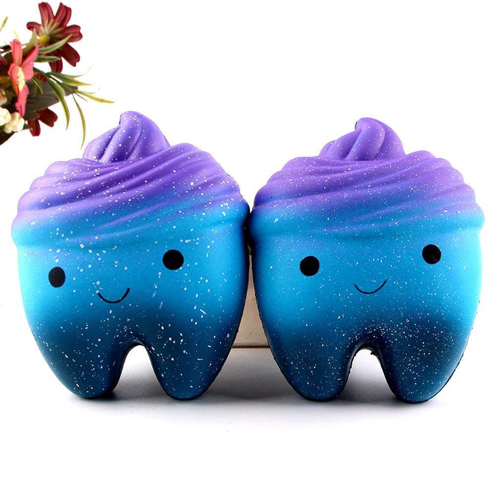 12см высококлассные Jumbo мягкими Каваи симпатичные мягкие зубы медленно растут выжать забавные антистрессовые игрушки весело шутка реквизит фокусы розыгрыши приготовления