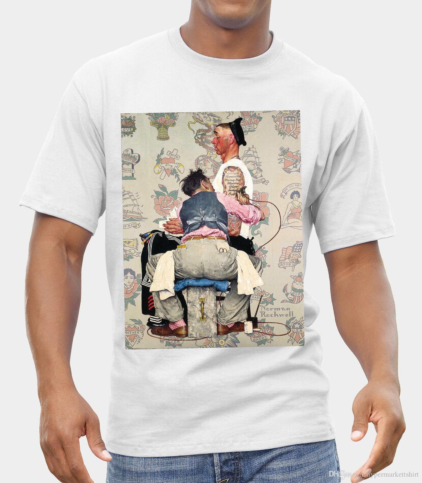 Norman Rockwell Shirt Loom T Of Logo Artist Tattoo New The Fruit qzSUMVpG