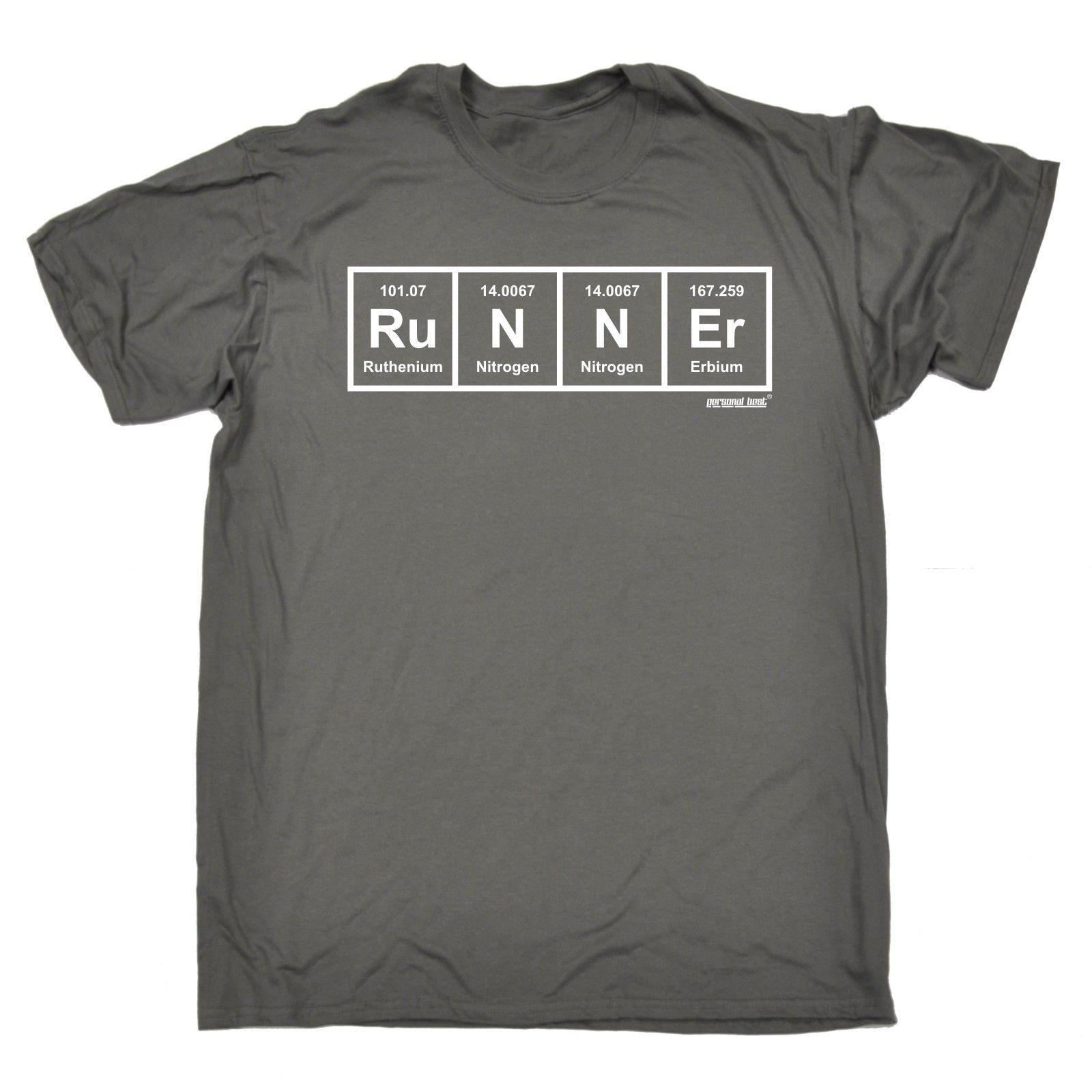 Runner Periodic T Shirt Running Jogger Sprint Race Science Gym