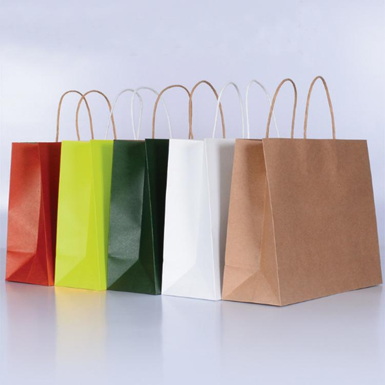 2019 Brown Paper Gift Bag Brown Kraft Paper Packing Bag With Handles