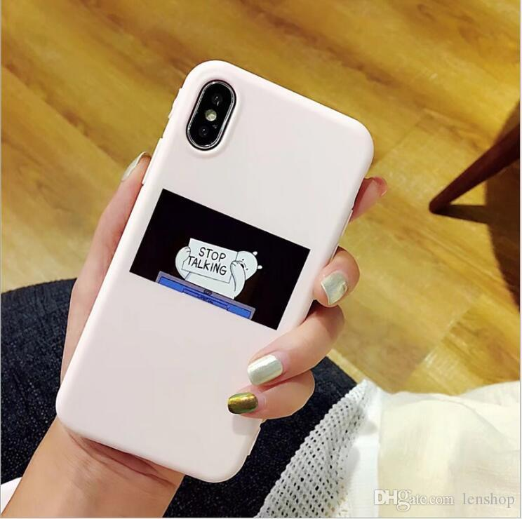 for iphone 6 6plus 6s plus 7 7plus 8 8plus case fashion street Trend Silicone stop talking phone cases soft cover