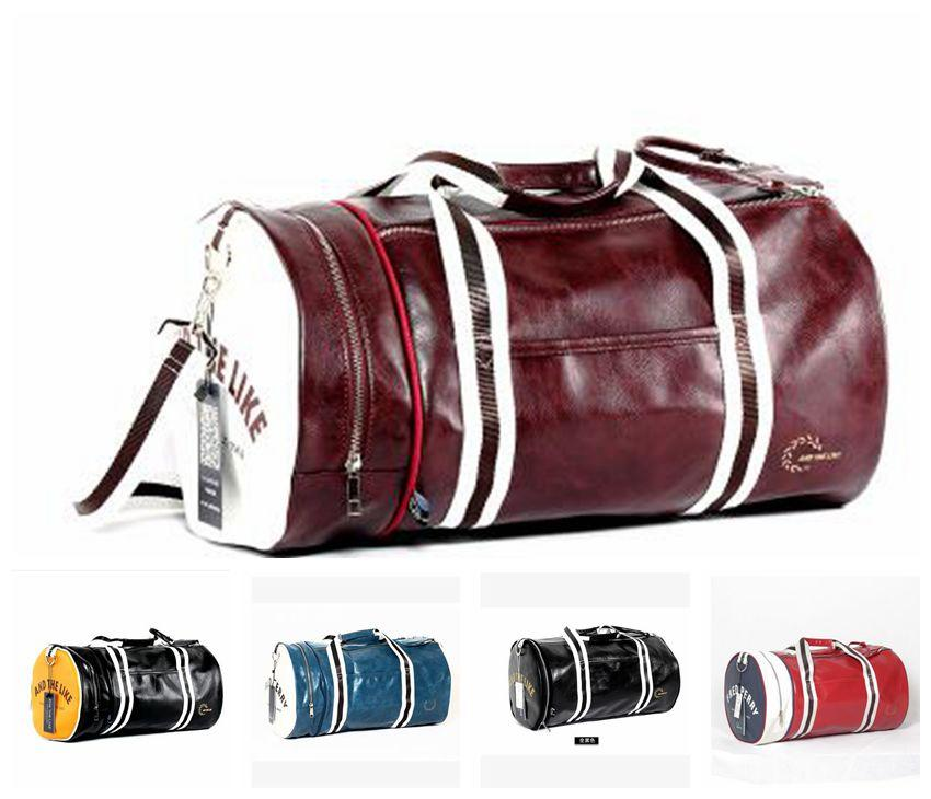 Hot Top PU Outdoor Sports Gym Bag Multifunction Training Fitness Shoulder  Bag With Shoes Pocket Mixed Colors Travel Yoga Handbag DHL Free Weekend Bags  ... 276177389e