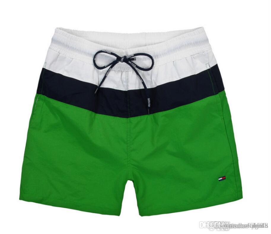 2ff950abadb88 High Quality Mens Shorts Casual Solid Color Board Shorts Men Summer ...