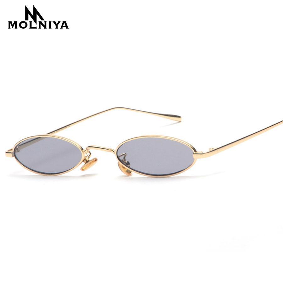 c4f1cf54fda6d ... 2018 Pequeno Oval Óculos De Sol Para Homens Masculino Retro Armação De  Metal Amarelo Vermelho Do Vintage Pequeno Rodada Óculos De Sol Para As  Mulheres ...
