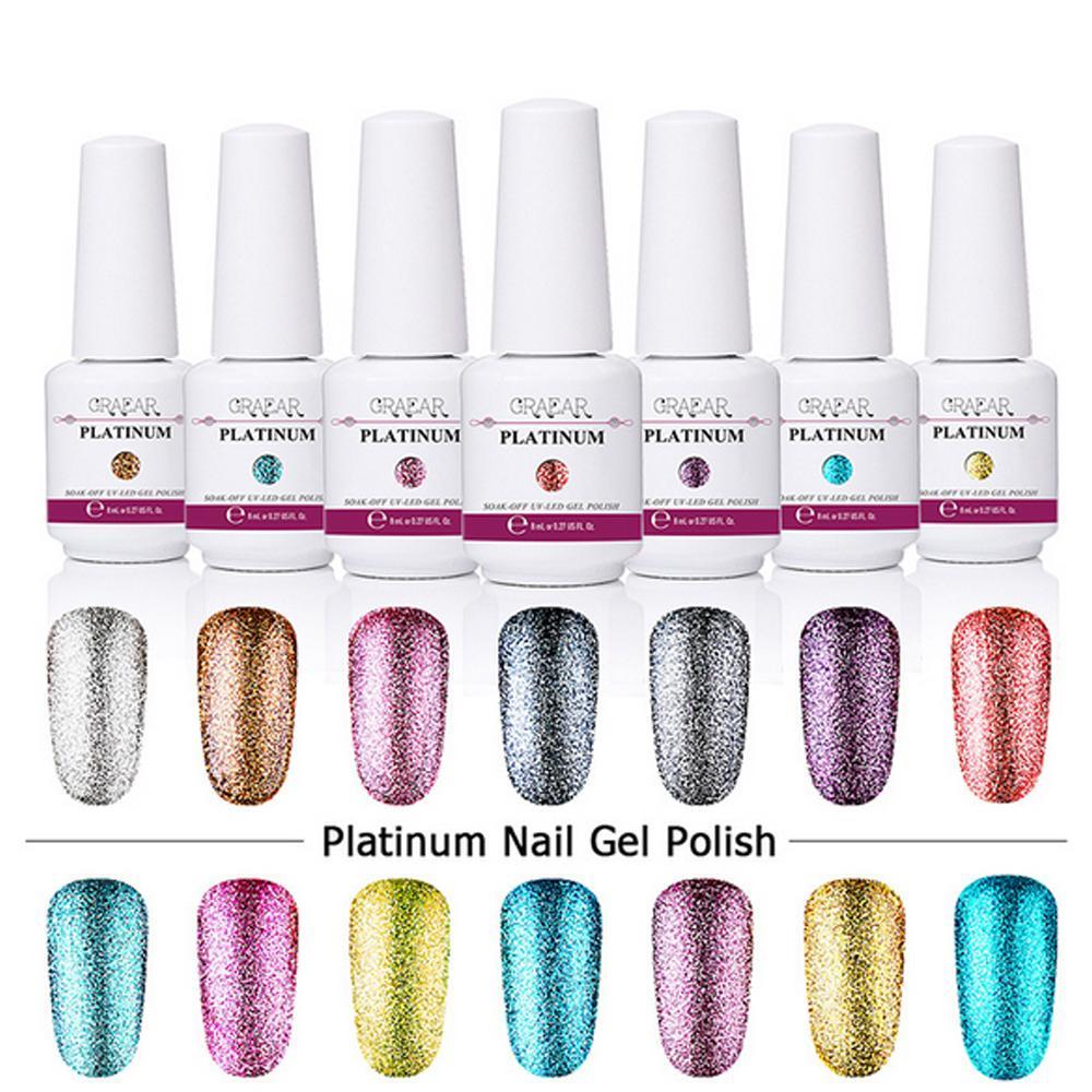 Top Quality 8ml Platinum Gelish Nail Polish UV Gel Nail Polish Soak ...