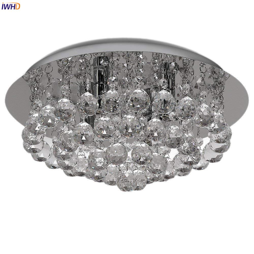 2019 iwhd nordic modern led ceiling lights fixtures home indoor lighting bedroom living room light crystal ceiling lamp lustre plafon from grege