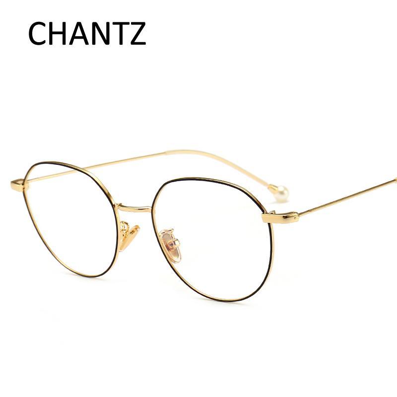 2f9f721549d 2019 Retro Glasses Frames Women 2018 Golden Brand Design Eyeglasses Fashion  Optical Glasses Ladies Metal Frame From Buete