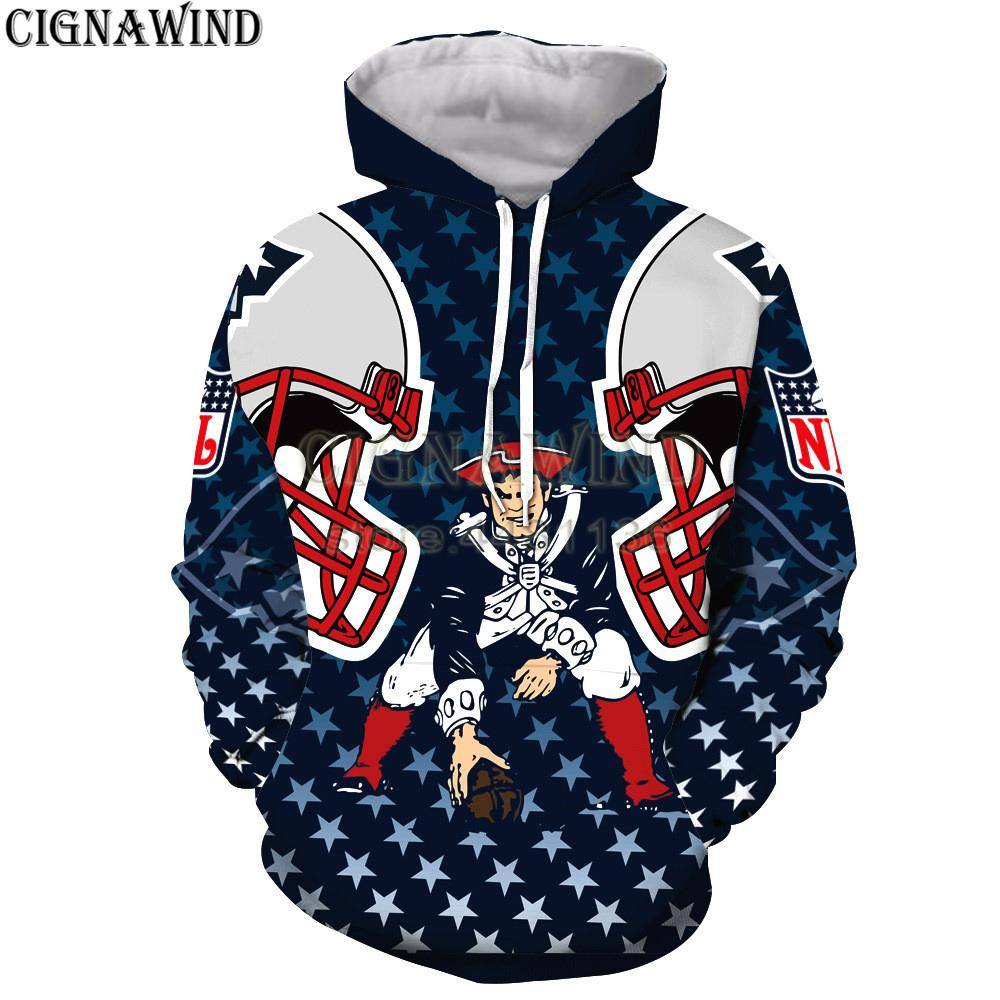 b4f12a9c New fashion hip hop hoodies Men/women England PATRIOTS Printed 3D Hoodie  Sweatshirts Long Sleeve Harajuku style streetwear tops