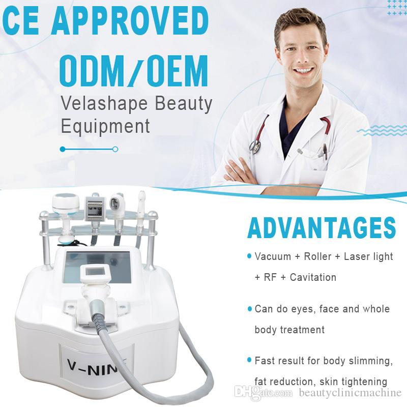 2019 portable velashape equipment body slimming weight loss cavitation vacuum rf double chin fat removal velashape machine
