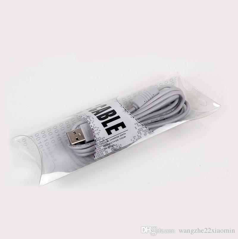 DIY нестандартная конструкция блистерная ПВХ пластиковая розничная упаковка коробка пакет для iPhone USB кабель зарядное устройство линия ясно коробка