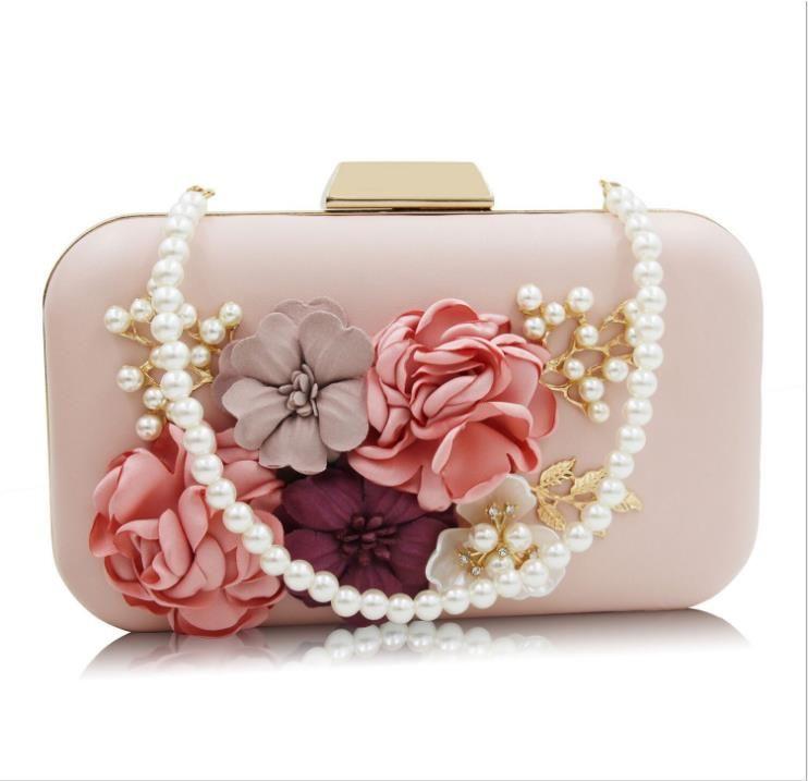 0270c86f8 Compre 2018 Nuevo Bolso De Cena De Las Flores Corona Imperial Cuentas De  Cristal Bolso De Bordado Paquete De Diamantes Perla Bolso De Noche Bolsos  De Señora ...