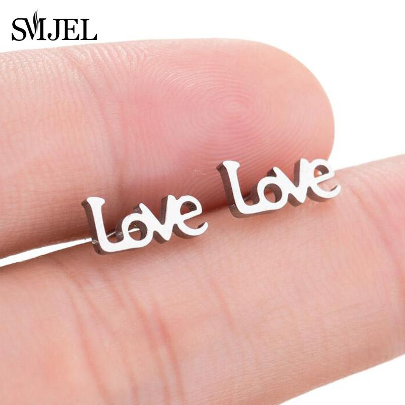 f2c5df6ff 2019 SMJEL New Tiny Initial Letter Stud Earring For Women Love Charm  Earrings Gold Gift For Best Friend Daily Jewelry From Loquat18, $33.4 |  DHgate.Com