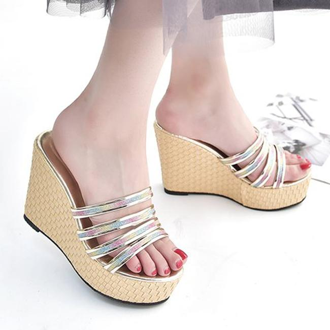 bfc004192bd0 Women Sandals Platform Shoes Wedge Sandals Open Toe Wedges Women  Summer  Shoes Ladies Jelly Slippers Heeled Thick High Heels Sandles Wedge Booties  From ...