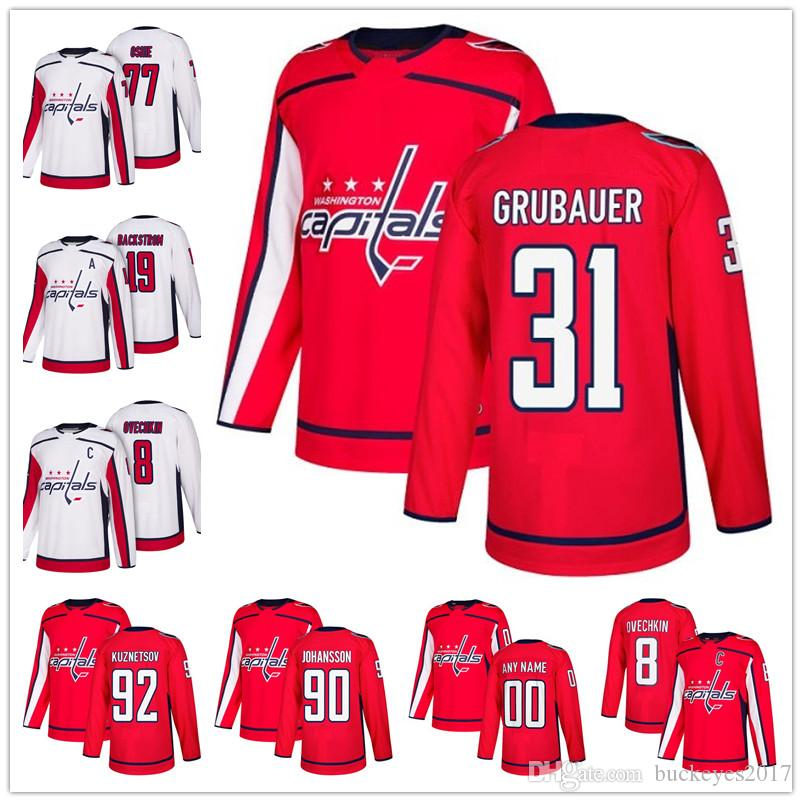 2019 Hot Sale Washington Capitals 2018 Red Home 31 Grubauer 25 Devante  Smith Pelly 29 Christian Djoos 39 Alex Chiasson Cheap Ice Hockey Jerseys  From ... fb8f91c9511