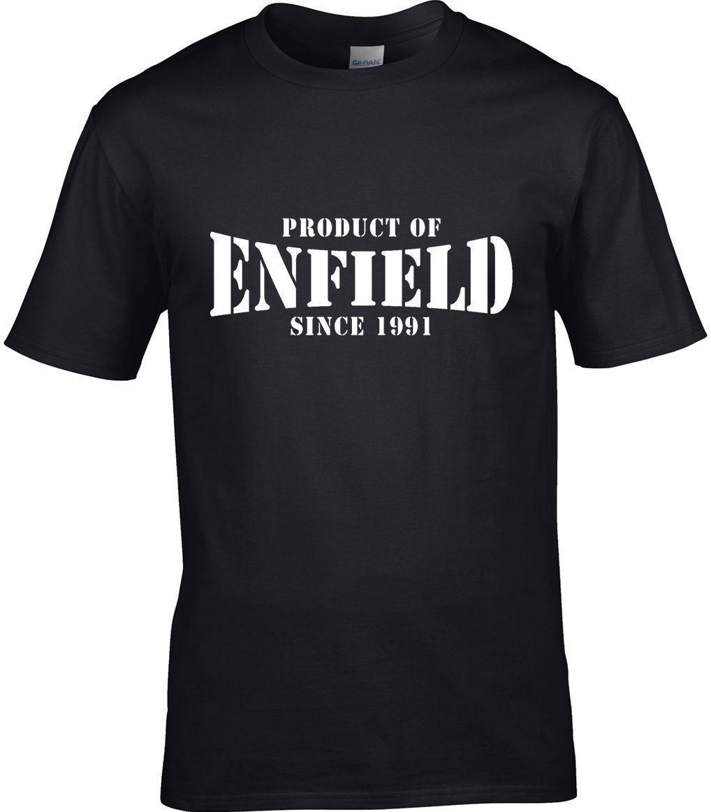 dad7d140f3 Producto De ENFIELD Londres Hombre Camiseta Place REGALO CUMPLEAÑOS Año  Elegir Tshirts Printed Crazy Tshirts From Amesion97