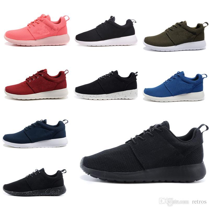 nike air roshe run one Printemps été formateurs Londres pour hommes et femmes 2018 nouvelle chaussures de marche occasionnels hommes formateur