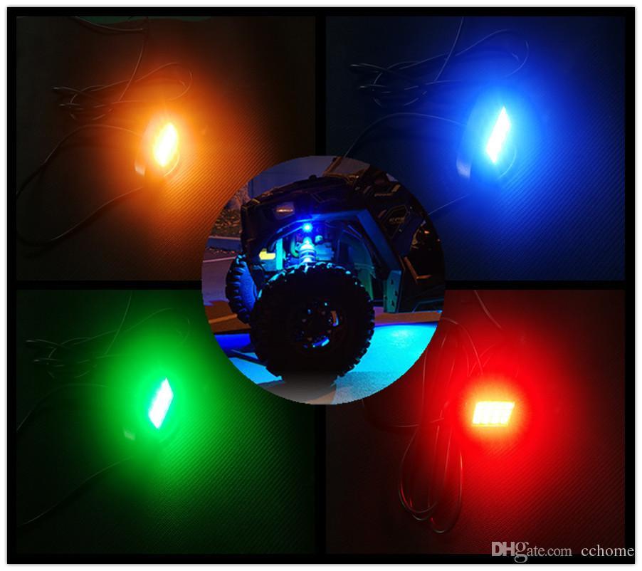 Внедорожник ATV UTV Underbody LED Rock Light Kit Двойной пульт дистанционного управления 6 стручков Синхронизация с тормозом Функция автоматического освещения
