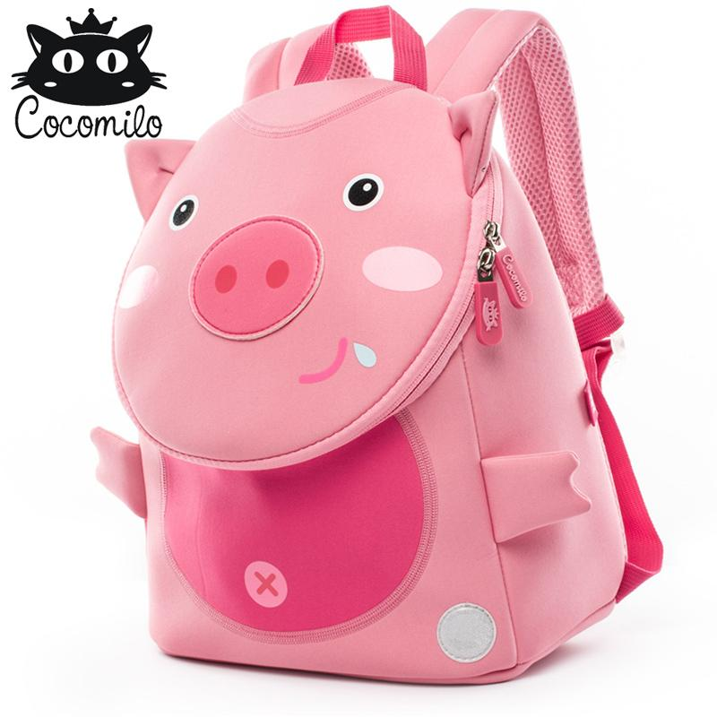 Cocomilo Cute Pig Panda Zoo Backpack Kids Small Bag For Boys Girls Cartoon  Anti Lost Backpacks Children School Bags 2 6 Years Kids Suitcases Overnight  Bags ... 4483db3314a25