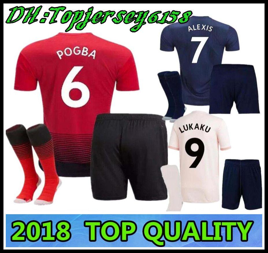 2019 18 19 POGBA LUKAKU United Kids Soccer Jerseys 2018 Football Shirt  ALEXIS LINDELOF RASHFORD MKHITARYAN MARTIAL MATIC Child JERSEY From  Topjersey6158 3919e9700