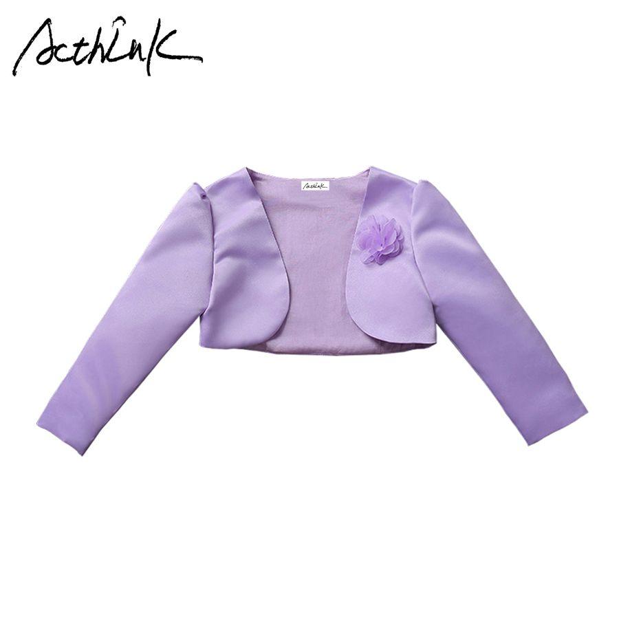 896af5910401 ActhInK New Baby Girls Bolero Children Formal Short Jacket For Girls ...