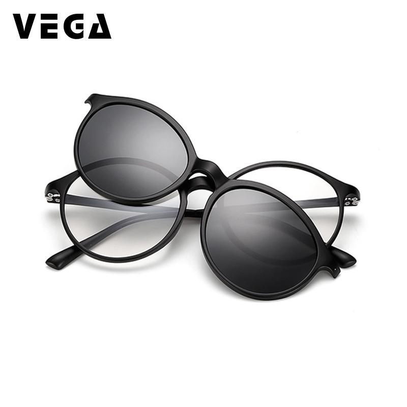 1325ee24a15 VEGA Polarized Magnetic Clip On Sunglasses Fit Over Sunglasses Prescription  Glasses 2 In 1 Magnetic Glasses Men Women VG213 Sunglasses At Night  Sunglasses ...