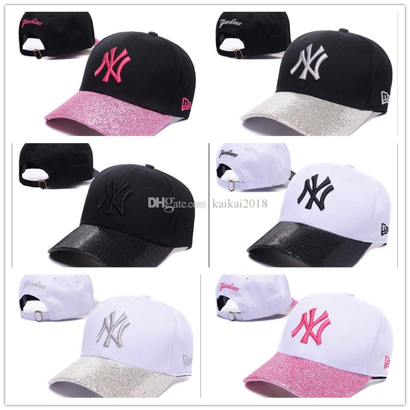 2018 New Brand Wholesale NY Baseball Cap Embroidery Letter Sun Hats ... 9fb2721d5622