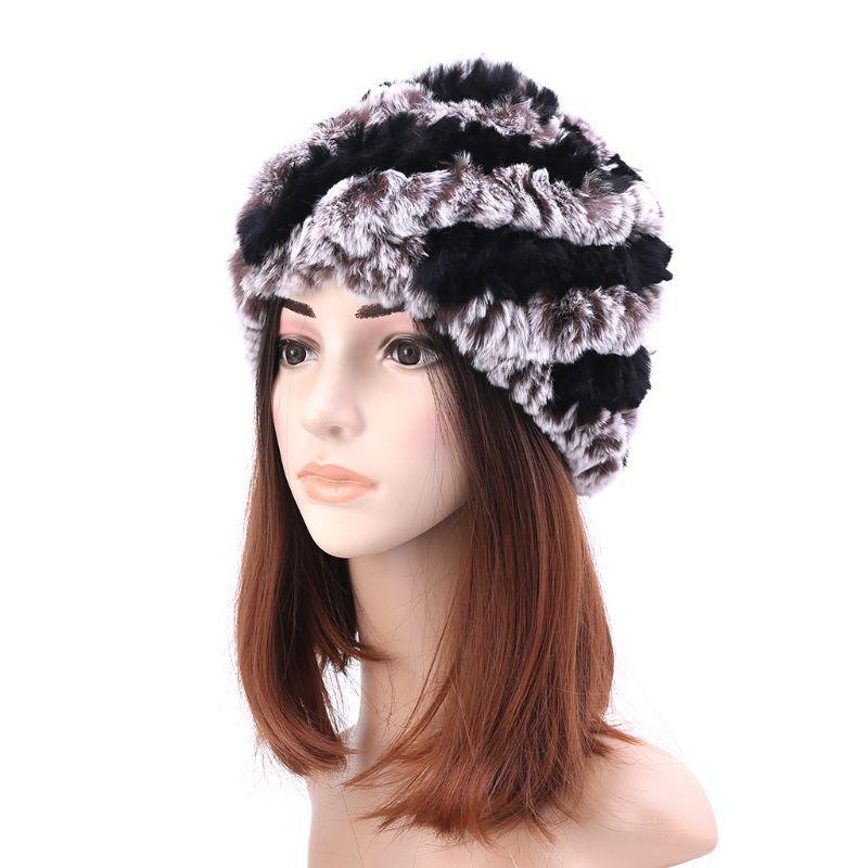 Acheter Russe Chapeaux D hiver Pour Femmes Dames Lapin Fourrures De Bonnet  Grand Chaud Chapeau Tricoté Hiver Accessoires W77 De  33.51 Du Yangmeijune  ... a3cd8fb7101