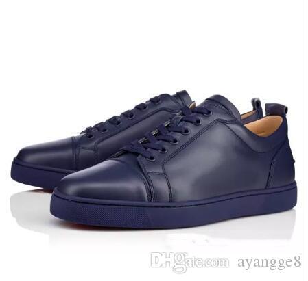 3b7c69723537a2 Großhandel Beste Qualität Rote Sohle Schuhe Gute Mann Schuhe Rote Untere Sneaker  Herren Junior Spikes Herren Degra Flache Schwarze Wildleder Strass Spiked  ...