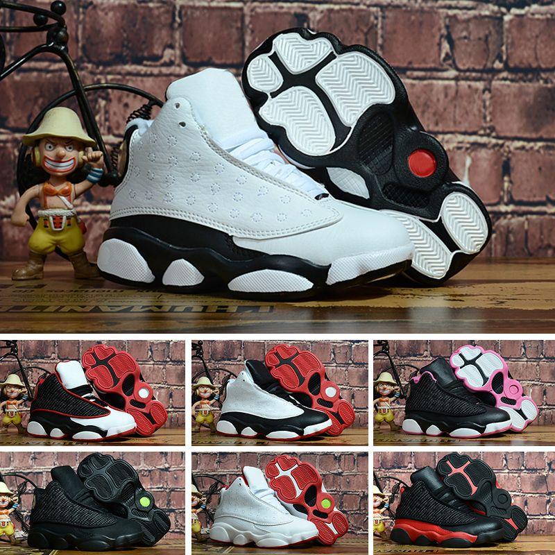 competitive price 2231c c2858 Compre Nike Air Jordan 13 Retro NIÑOS 13 S Zapatos De Baloncesto One Penny  Hardaway Tenis De Tenis Zapatos De Deporte De Baloncesto Berenjena Al Aire  Libre ...