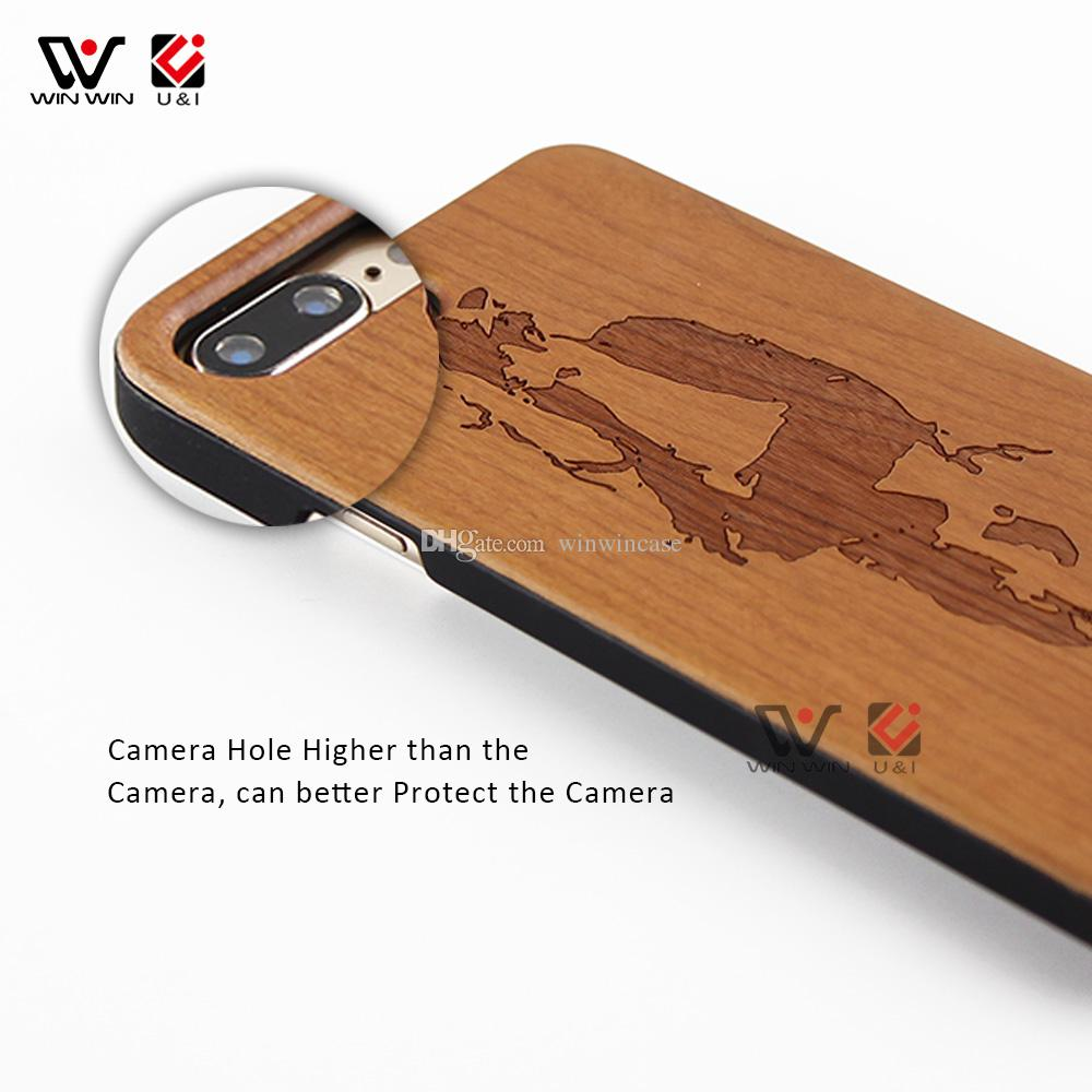 Real cherry wood case for iPhone 5 5s 6 6s s ,luxury wooden cell phone cases for girl for i Phone Apple i6s