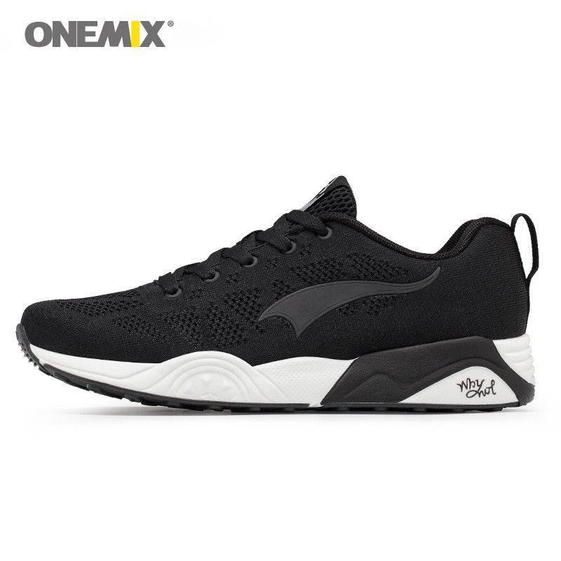 9d46a83bab9 Acheter Chaussures De Course Onemix Pour Hommes Chaussures De Sport Légères  Respirantes Pour Femmes Chaussures De Sport Pour La Marche En Plein Air ...