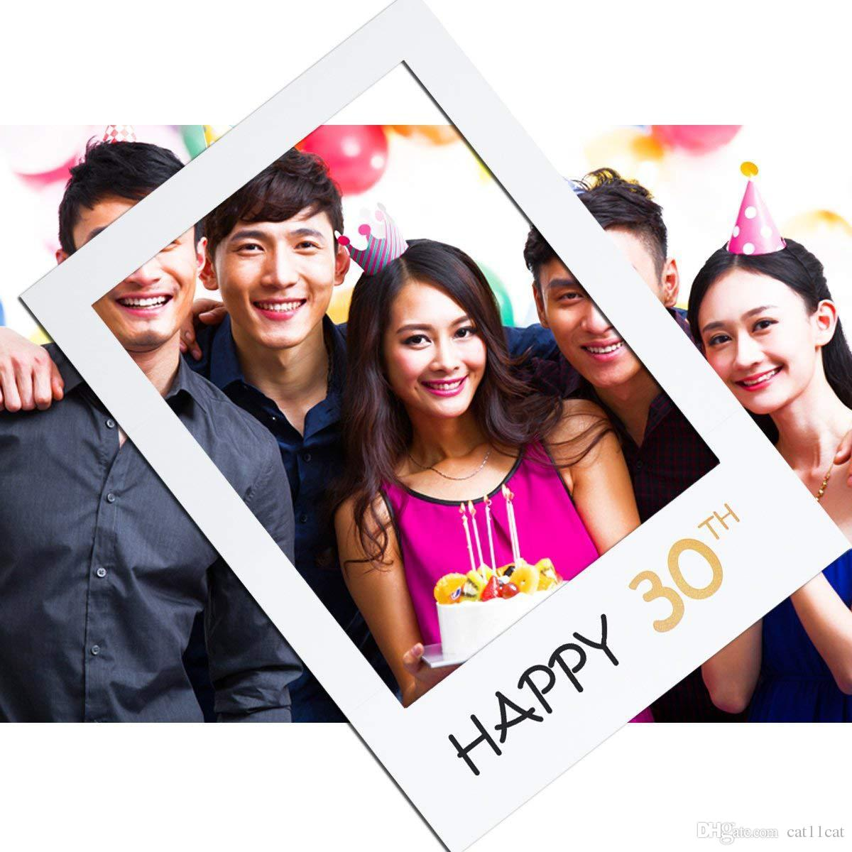 2019 16 18 21 Years Photo Booth Frame Happy Birthday Photobooth