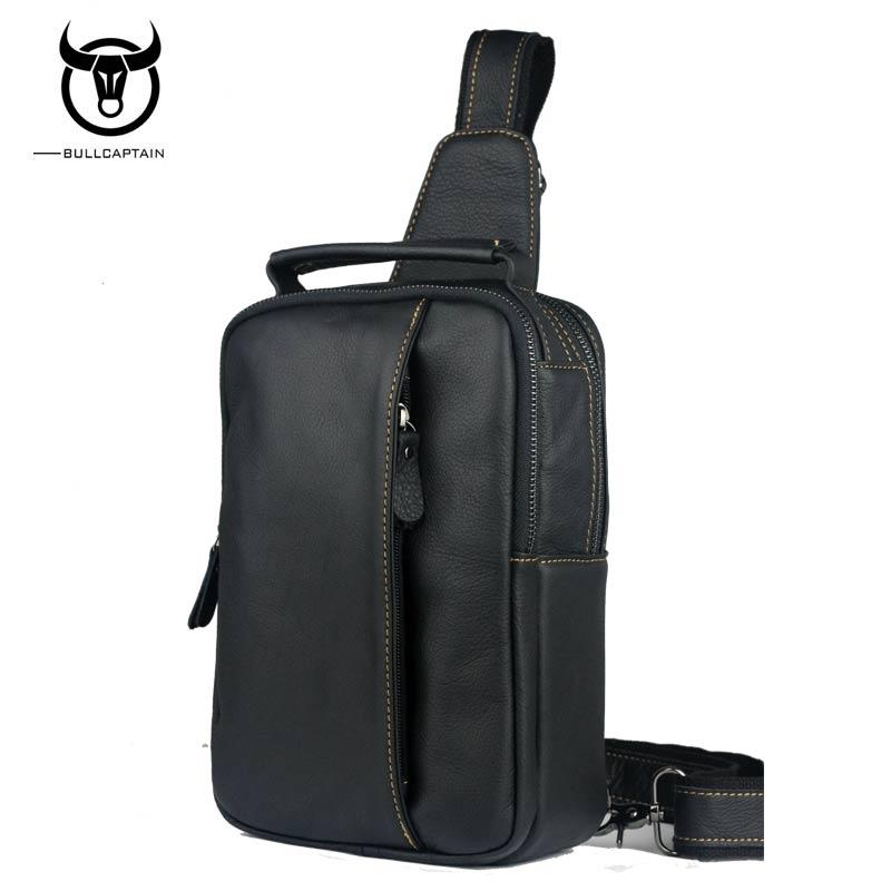 e988787bf2e0 BULL CAPTAIN 2017 Small Brand Casual Messenger Bags MEN Shoulder BAGS  Fashion GENUINE Leather MALE Crossbody Bag Men Chest Bag Leather Handbags  Handbags On ...