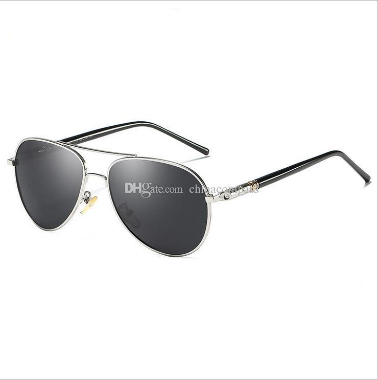 1903d3f4a2a 2018 Pilot Vintage Shade Polarized Sun Glasses Metal Retro Men s ...