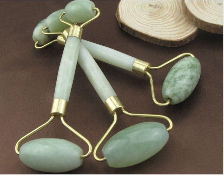 80 stücke Grüne Jade Roller Massagegerät Auge Gesicht Hals Gesichtsentspannung Abnehmen Werkzeug Jade Roller Massagegerät Gesicht Körper Kopf Hals Fuß stein 13 cm