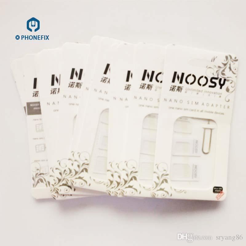 FIXPHONE 4 IN 1 Noosy Dual SIM Adattatore iPhone Samsung Huawei Xiaomi Nano Micro SIM Adattatore Espulsione Pin Key