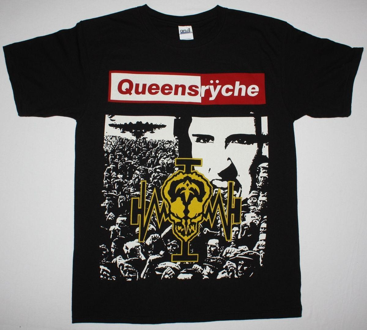 Queensryche Operation Mindcrime'88 Progressive Metal Savatage New Black T-shirt Hot Sell 2018 Fashion T Shirt Men Loose Size