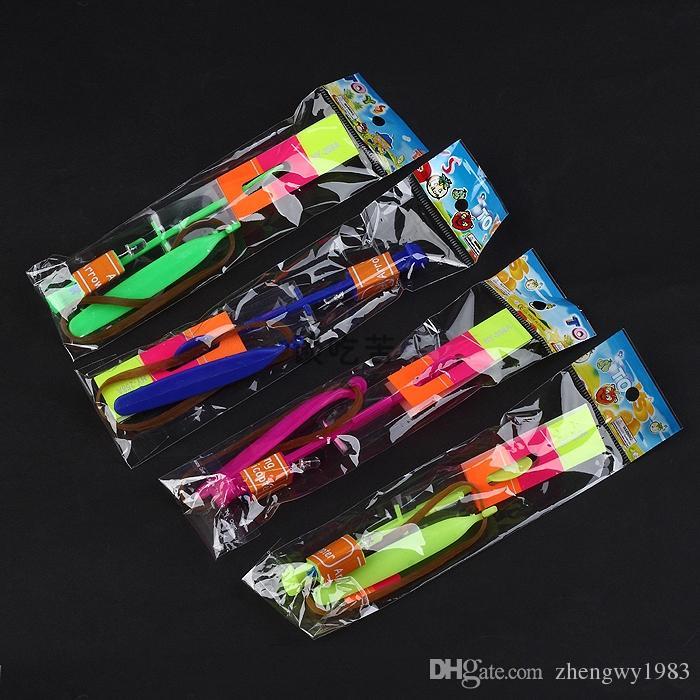 Helicóptero caliente llevó la magia goma del juguete de setas flash Flechas del vuelo paraguas flash 2000p Y91