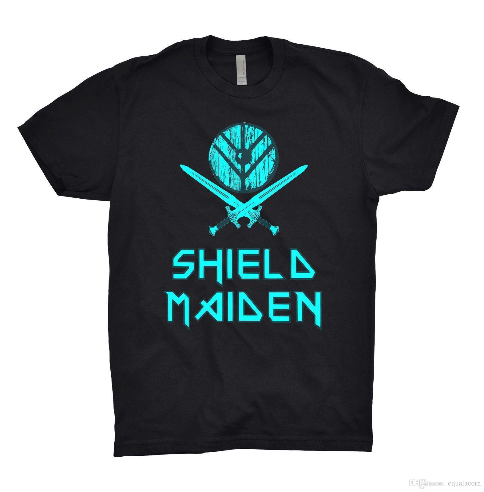67058982 Shield Maiden T Shirt Vikings Odin Thor Valhalla Themed Shirts Latest T  Shirts Design From Equalacorn, $10.3| DHgate.Com