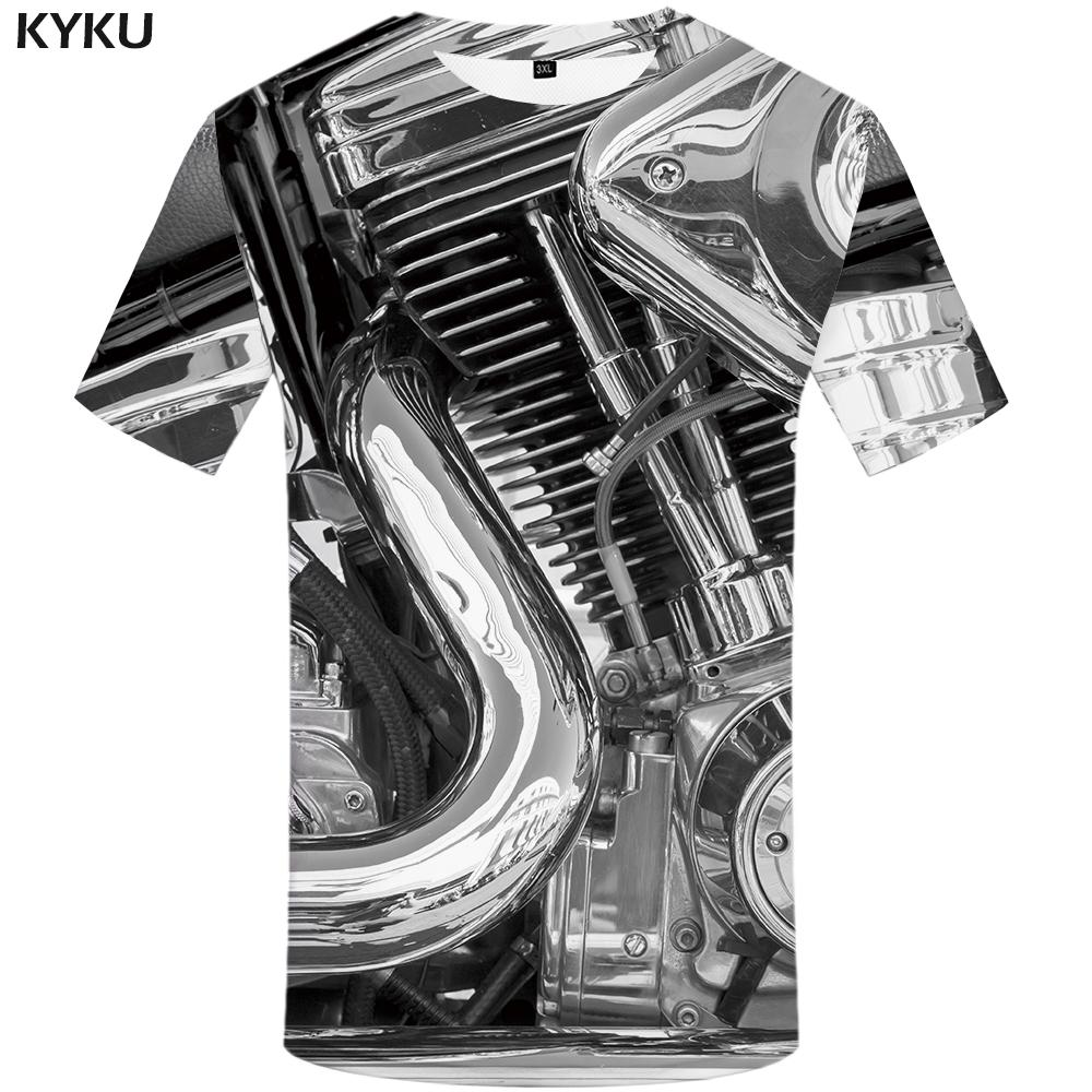 ce5be6bf KYKU Motorcycle T Shirt Punk Clothing Retro Clothes Mechanical Tshirt Tops  Tees Men Funny 3d T Shirt Mens Tee Print Summer Cool Tee Shirts Designs Web  T ...
