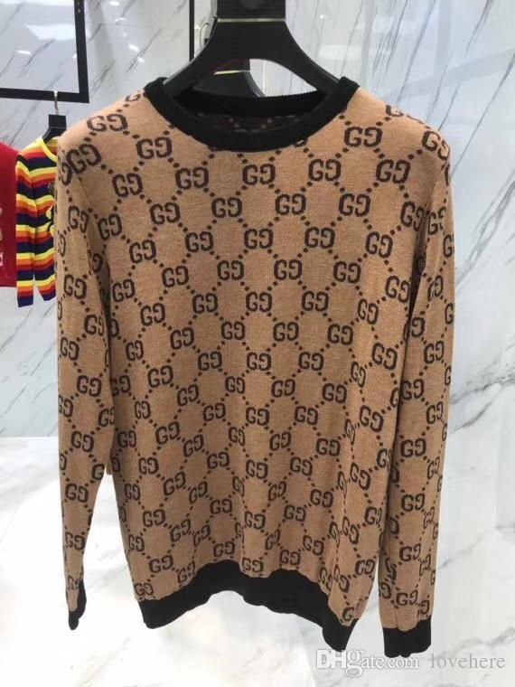 a00b83fb9de Ladies Men's Sweaters Fall/Winter New Round Neck Pullover Metal Wire  Special Weaving Couples Sweater Tops Free Shipping