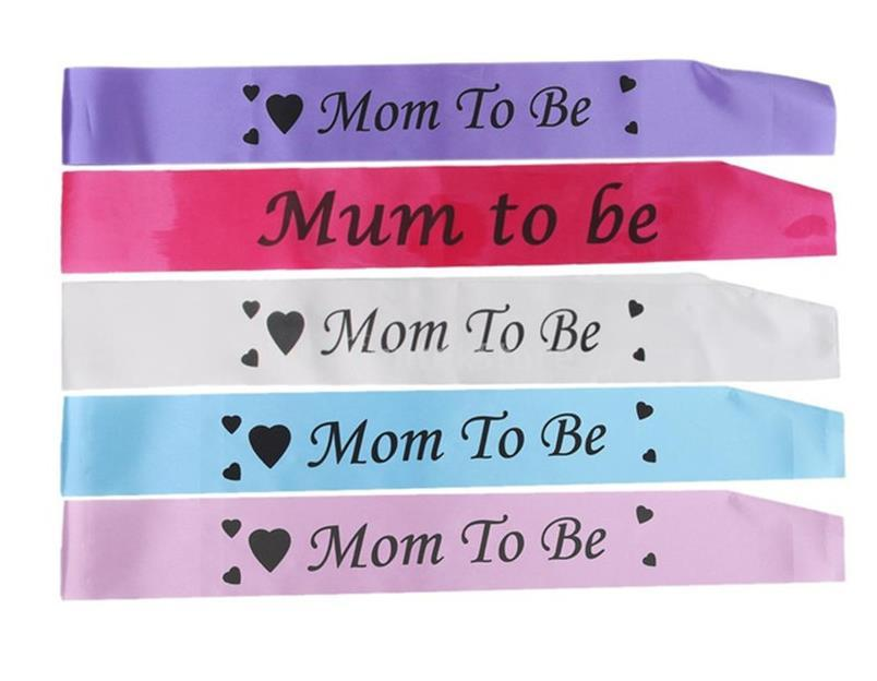 2019 Baby Shower Mother Mommy Mom To Be Sash Banner Ribbon Favors
