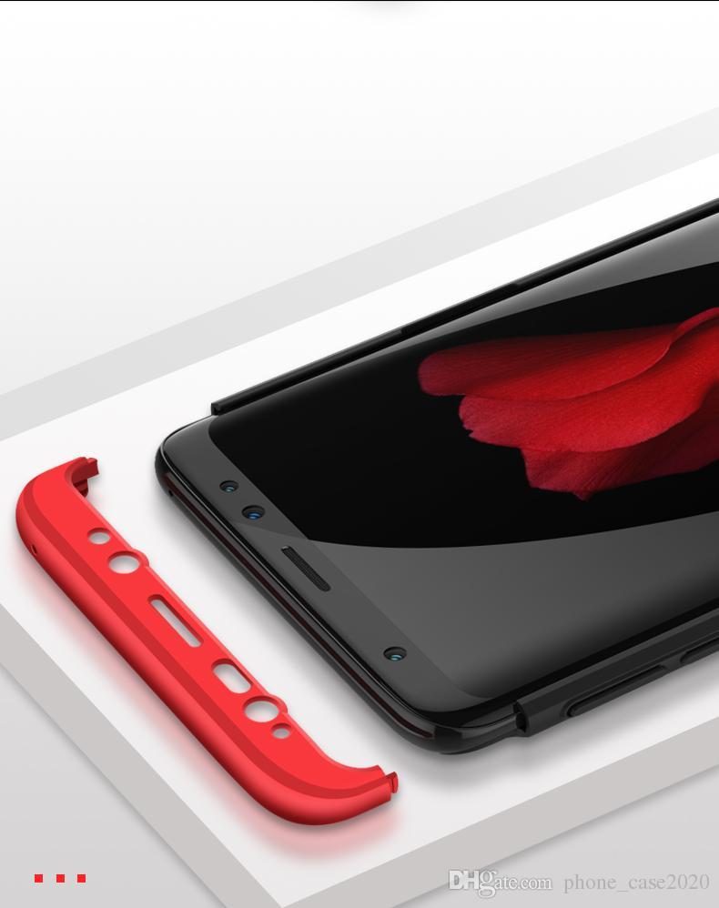 Тонкий 3in1 гибридный жесткий чехол для Samsung Galaxy S9 S9 Plus Note10 Plus S10 Plus A8 S8 S8 + Note8 S7 S6 Edge