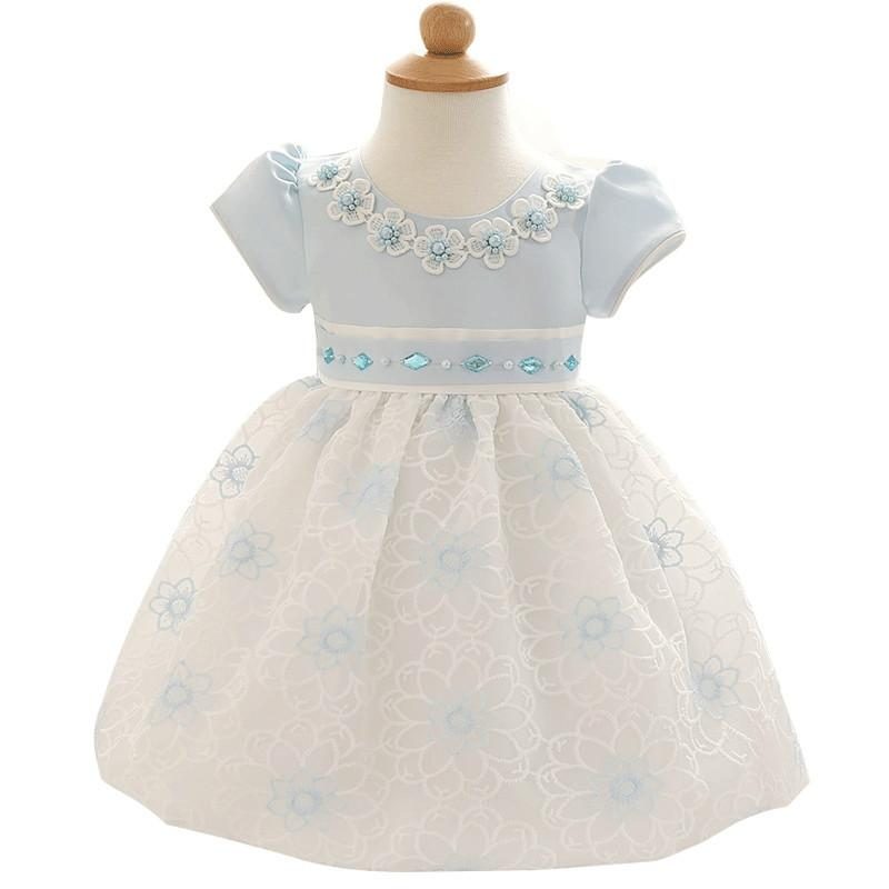 2018 Wholesale Girls Party Gowns Princess Toddler Baby Girls Clothes ...