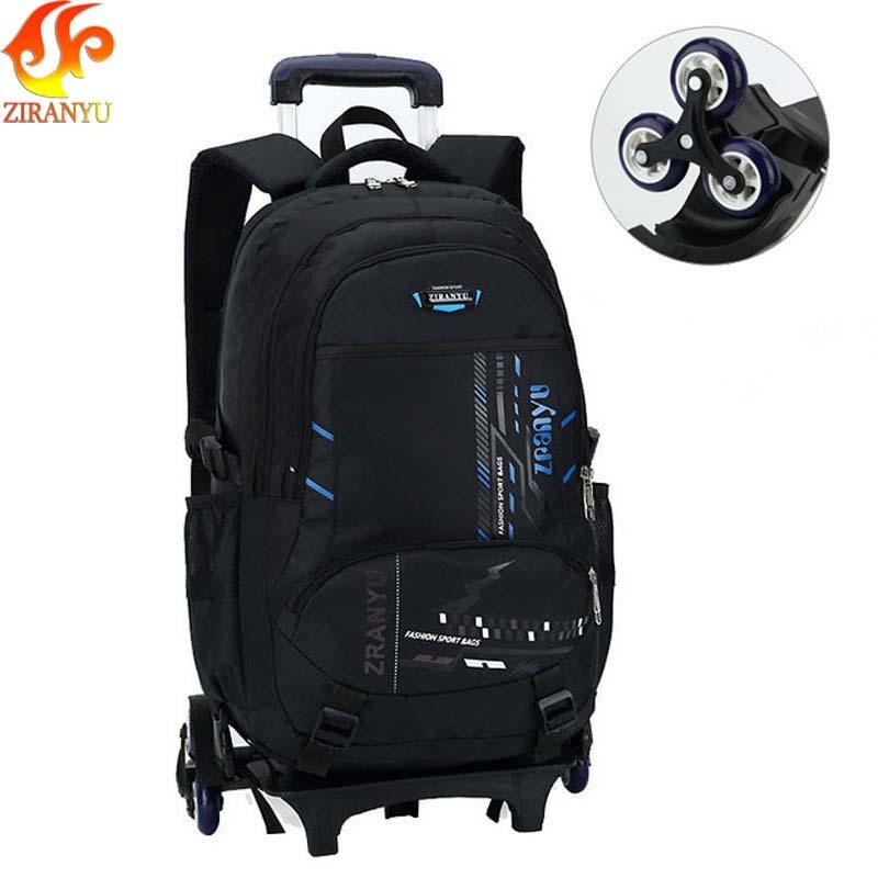 ZIRANYU Latest Removable Children School Bags With 3 Wheels Stairs Kids Boys  Girls Backpacks Trolley Schoolbag Luggage Book Bags Y18100705 Backpacks And  ... 07b3c0fa121c4