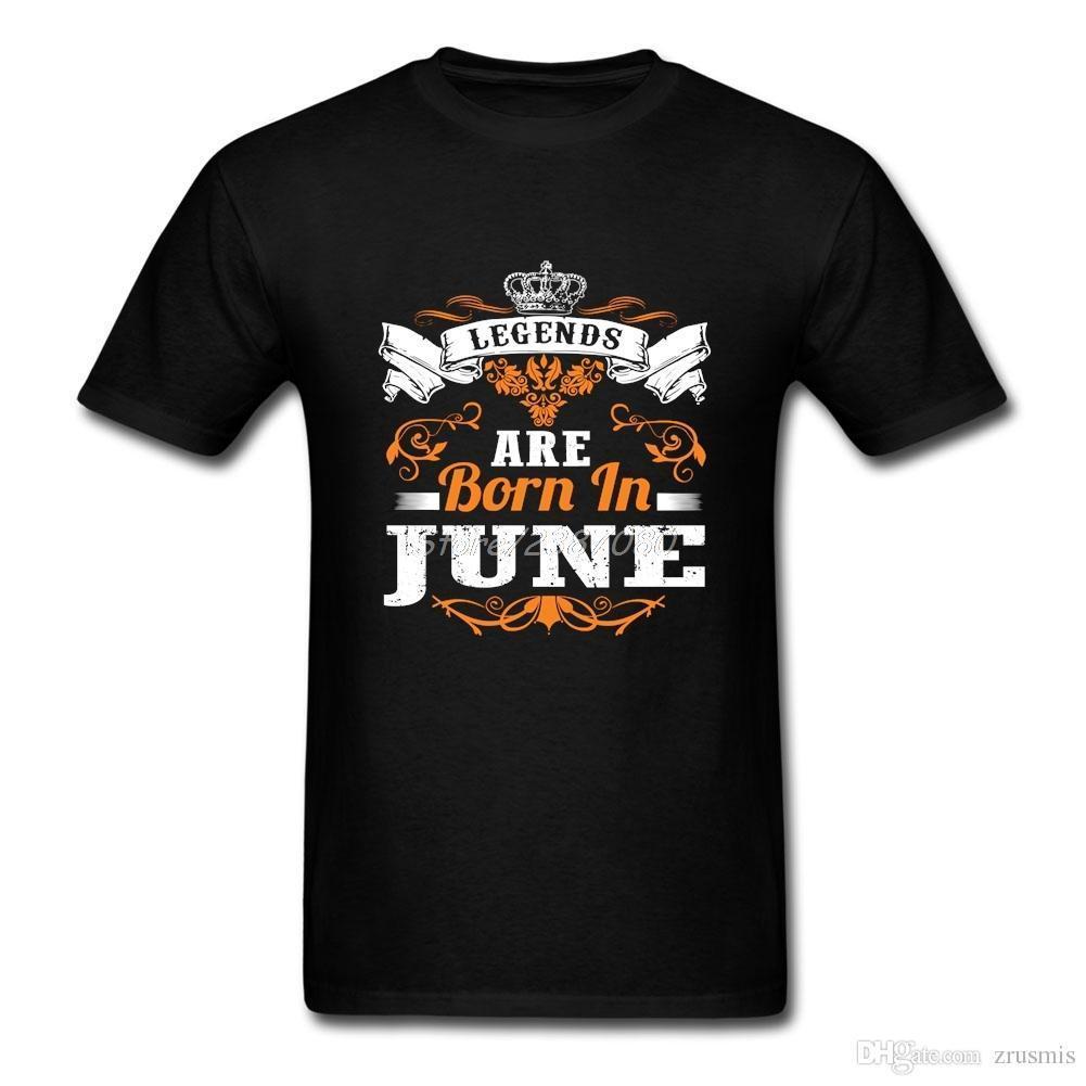 Compre Leyendas Nacen En Junio Camiseta 3XL Manga Corta Personalizada  Hombres Camiseta Hipster Vegan Algodón Crewneck Camisas De Los Hombres A   11.87 Del ... 3ae2dd2caac42
