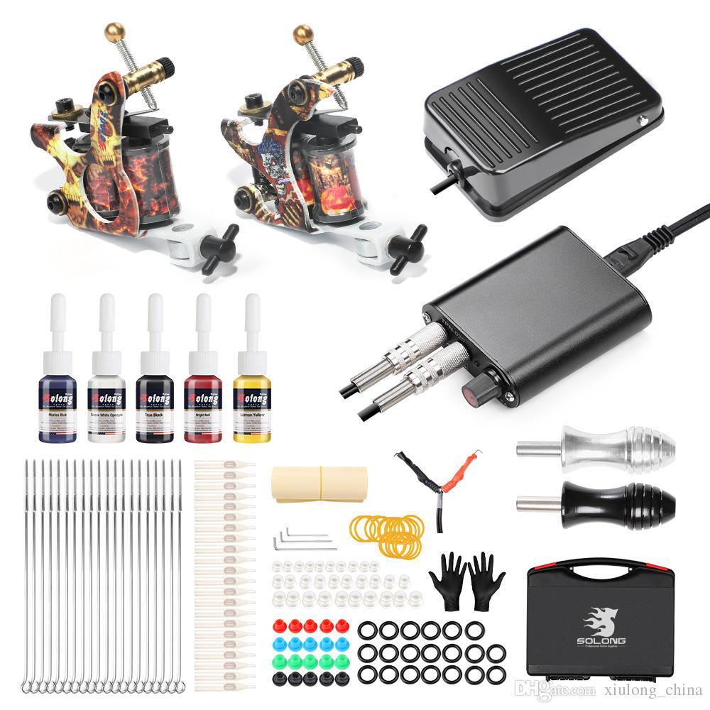 Solong 2 Gun Kit Coil Tattoo Machine For Beginner Use Diagram Kits Starter Best Online From